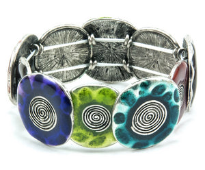 Multi-Colored Spiral Stretch Bracelet