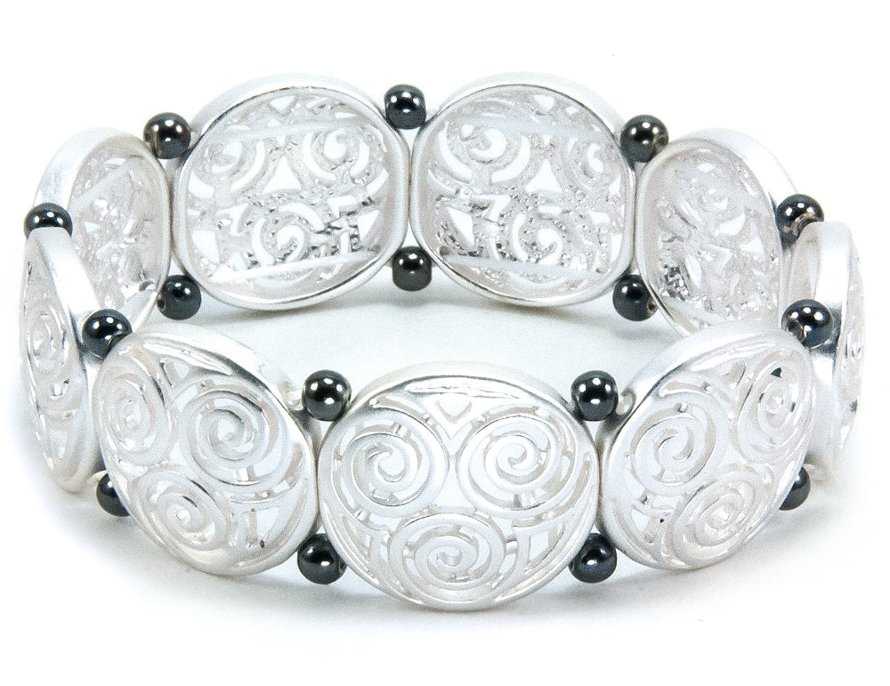 Triskele Stretch Bracelet Two-tone