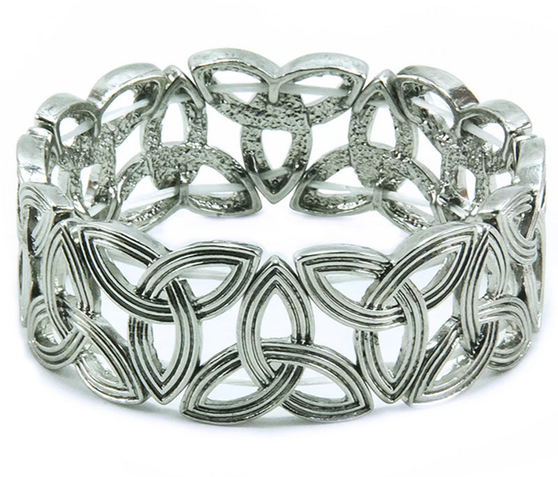 Trinity Laser-Cut Stretch Bracelet