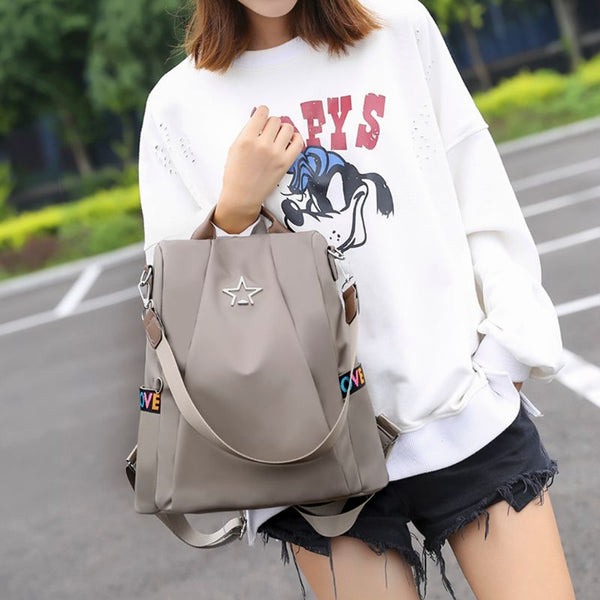 Nylon backpack purse