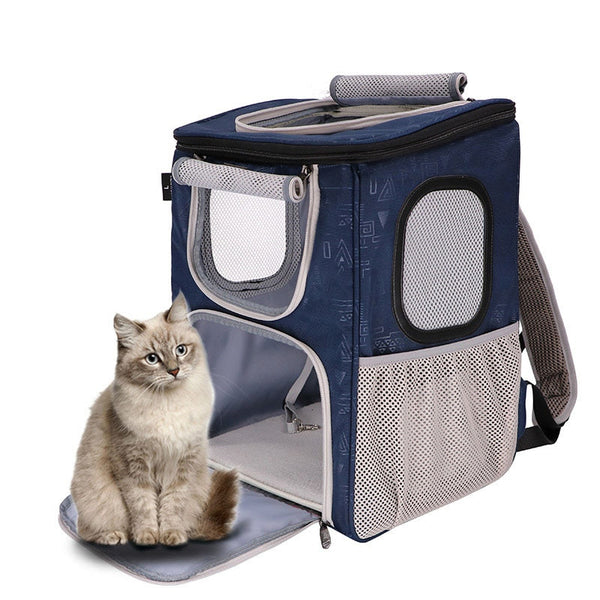 Portable Breathable Grid Bag Pet Cat Bag