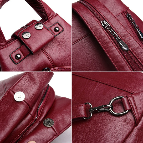Details of backpack purse
