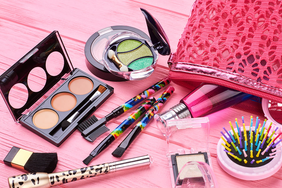 Female makeup kit