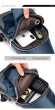 Load image into Gallery viewer, Crossbody Bag for Men with USB