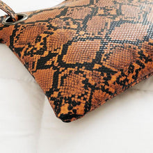 Load image into Gallery viewer, Snake Print Clutch, Makeup Bag