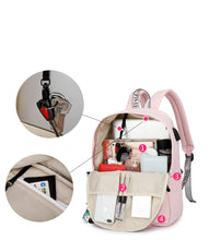 Load image into Gallery viewer, Reflective Waterproof Women Laptop Backpack