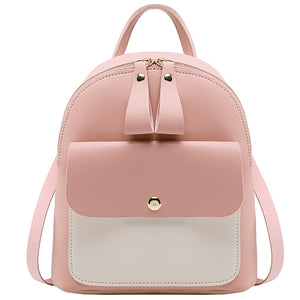 Leather Mini Backpack for Women