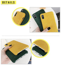 Load image into Gallery viewer, Corduroy Phone Case For iPhone - Green