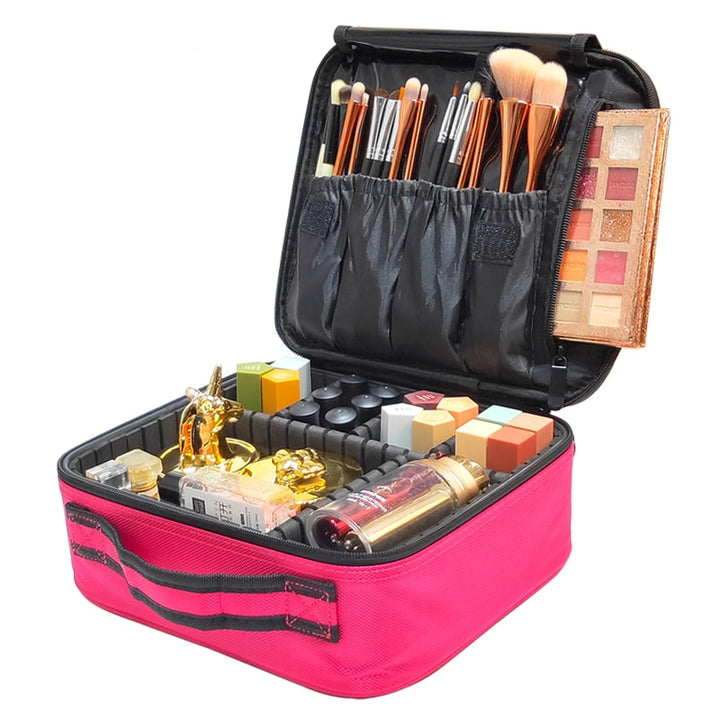 Professional Makeup Bag & Cosmetic Travel Organizer
