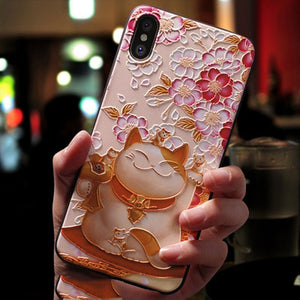 Cat 3D Soft Silicone Phone Case for All iPhone Models