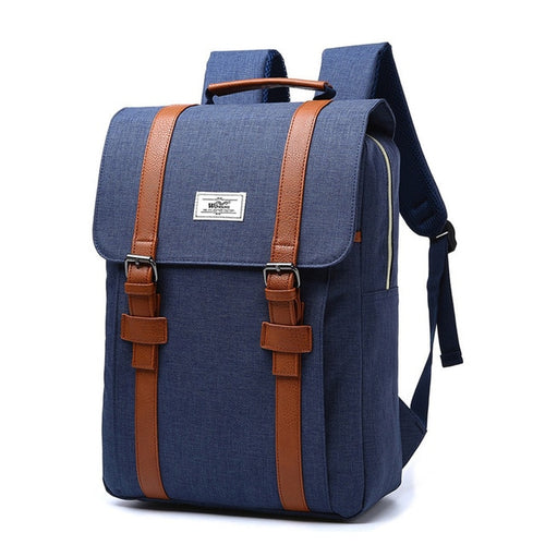 Canvas Laptop Backpack for Women