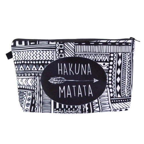 Hakuna Matata Cosmetic Bag Makeup Bag with Print