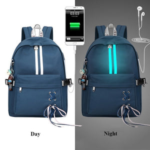 Reflective Waterproof Women Laptop Backpack