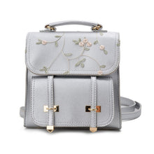 Load image into Gallery viewer, Floral Leather Backpack