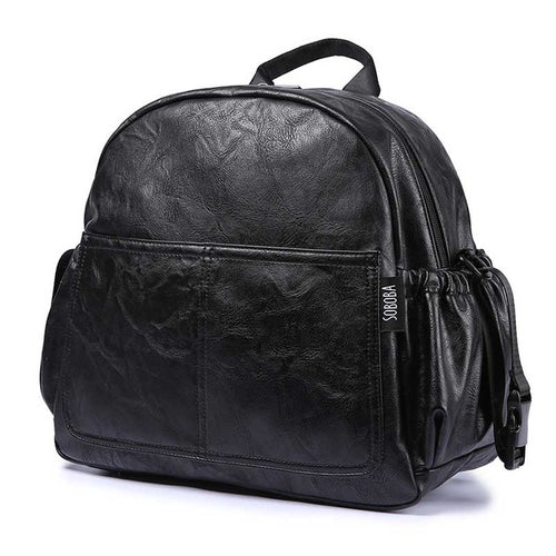 Stylish Leather Diaper Bag Backpack