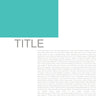 Project Life Editorial Templates Set 1B