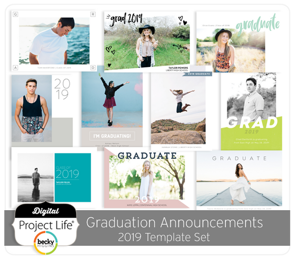 Graduation Announcements 2019 Card Set