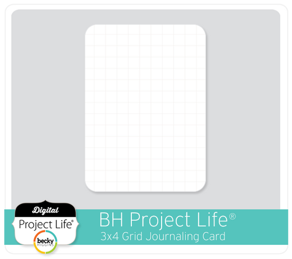 BH Project Life 3x4 Grid Card Freebie
