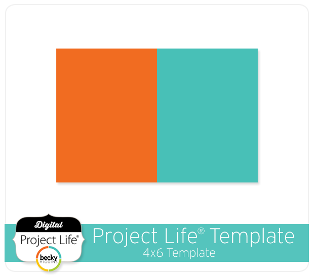 project life digital scrapbooking free 4x6 template