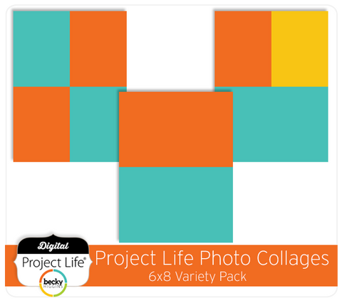 Project Life 6x8 Photo Collages