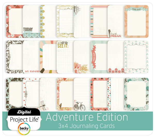 Adventure Edition 3x4 Journaling Cards