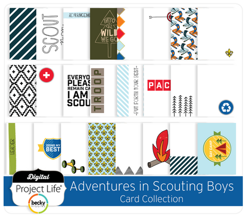 Adventures in Scouting Boys Card Collection