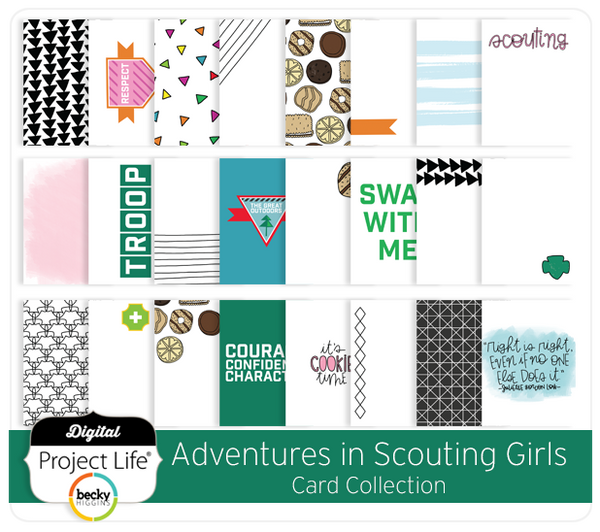 Adventures in Scouting Girls Card Collection