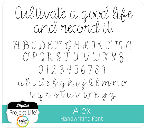 Alex Handwriting Font
