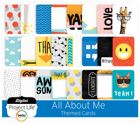 All About Me Themed Cards