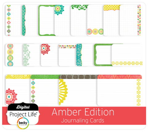 Amber Edition Journaling Cards