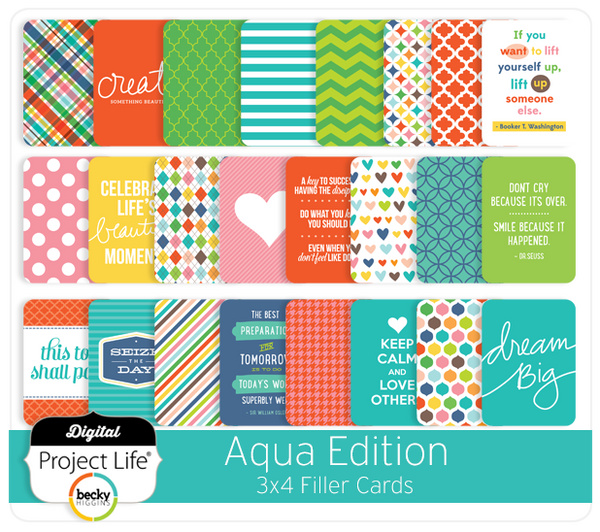 Aqua Edition 3x4 Filler Cards