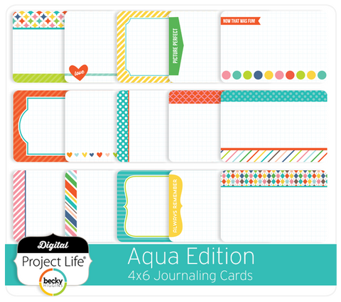 Aqua Edition 4x6 Journaling Cards