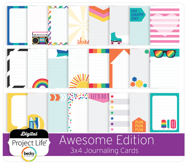 Awesome Edition 3x4 Journaling Cards