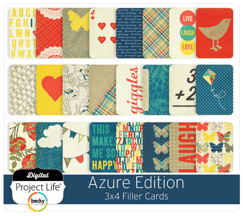 Azure Edition 3x4 Filler Cards