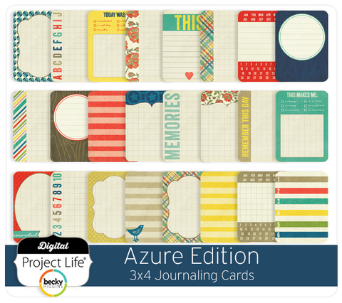 Azure Edition 3x4 Journaling Cards