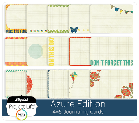 Azure Edition 4x6 Bi-Fold Journaling Cards