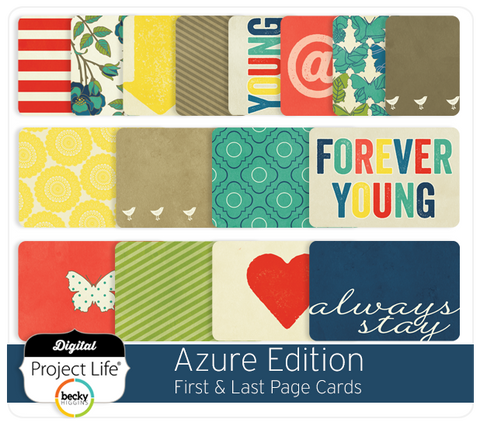 Azure Edition First & Last Page Cards