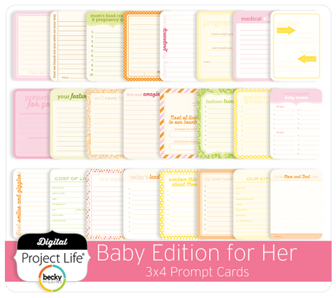 Baby Edition for Her 3x4 Prompt Cards
