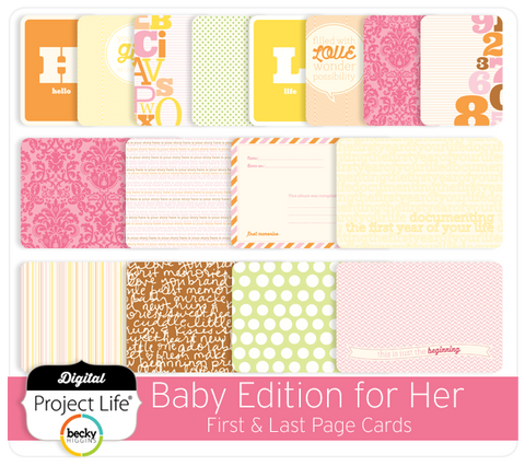 Baby Edition for Her First + Last Page Cards