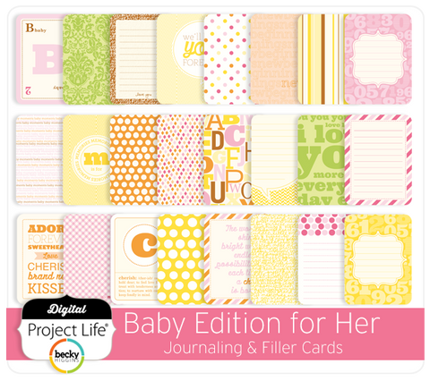 Baby Edition for Her Journaling + Filler Cards