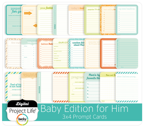 Baby Edition for Him 3x4 Prompt Cards