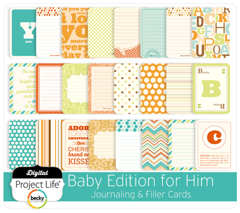 Baby Edition for Him Journaling + Filler Cards