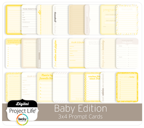 Baby Edition 3x4 Prompt Cards