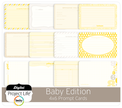 Baby Edition 4x6 Prompt Cards