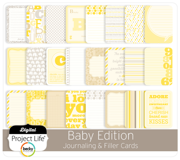 Baby Edition Journal + Filler Cards