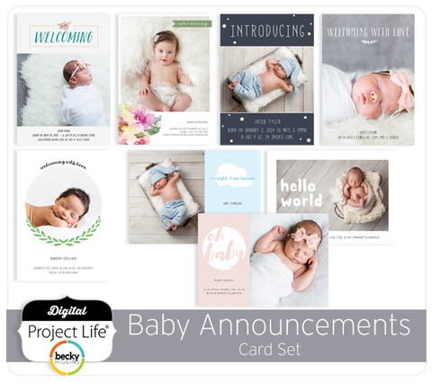 Baby Announcements Card Set