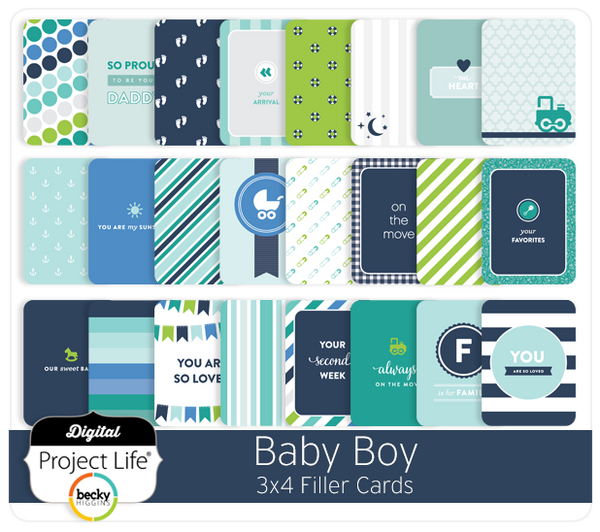 Baby Boy Edition 3x4 Filler Cards