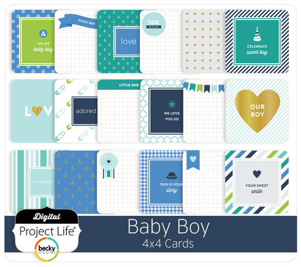 Baby Boy Edition 4x4 Cards