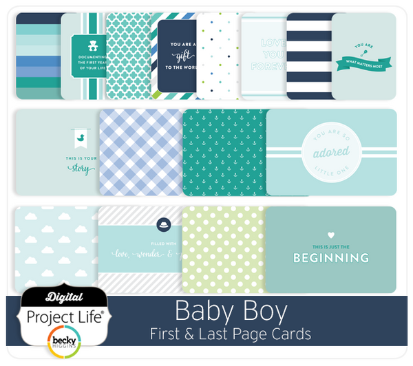 Baby Boy Edition First & Last Page Cards