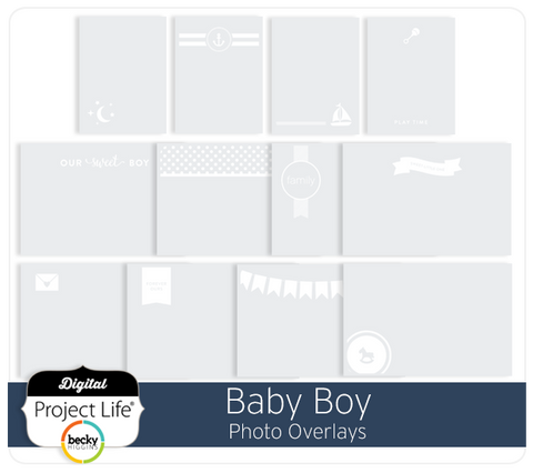 Baby Boy Edition Photo Overlays